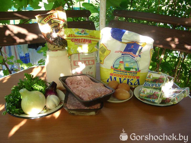 Чебуреки по-белорусски ингредиенты